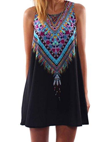 PAKULA Women's Summer Casual Mini Beach Dress