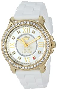 Juicy Couture Women's 1901053 Pedigree White Silicone Strap Watch