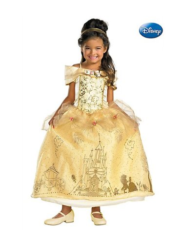 Storybook Belle Prestige - 41J0Y3ePavL - Disney Storybook Belle Prestige Toddler / Child Costume