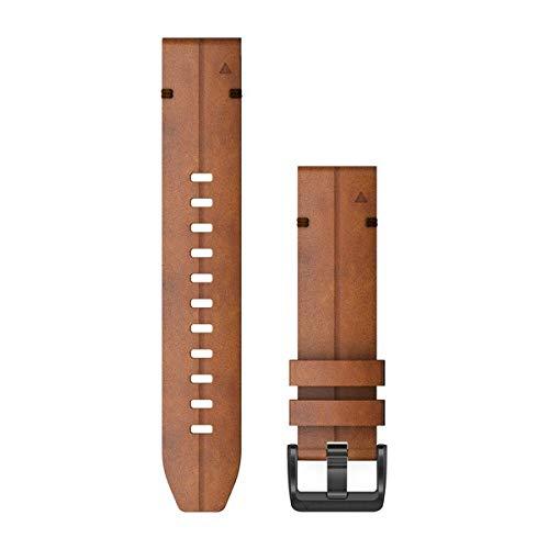 Garmin Quickfit 22 Watch Band, Chestnut Leather
