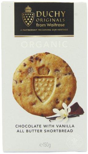 Duchy Originals Chocolate Vanilla All Butter Organic Shortbread 150 g (Pack of 4)