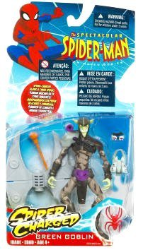 Buy Low Price Hasbro Spectacular Spider-Man Animated Action Figure Green Goblin (Spider Charged!) (B002GZTOC2)