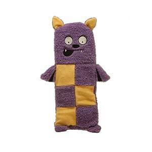 Kyjen 2769 Squeaker Mat Bat Halloween 6-Squeaker Plush Squeak Toy Dog Toys, Medium, Purple