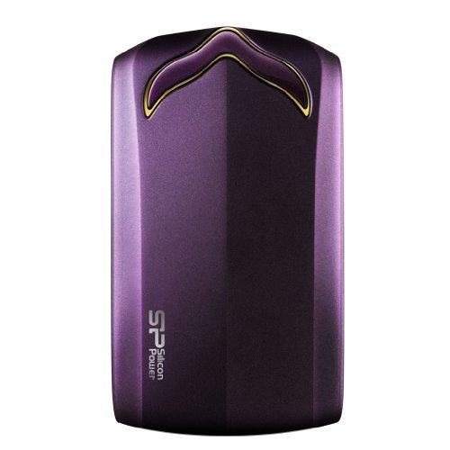 Silicon Power Stream S20 Portable 1 TB USB 3.0 External Hard Drive SP010TBPHDS20S3U, Purple