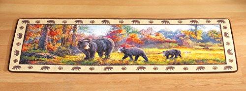 Northwoods Bear Family Floor Runner