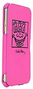 GRAPHT Keith Haring Collection Flip Cover for iPhone 6 Plus - Retail Packaging - Pink/Black