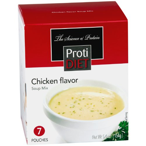ProtiDiet Soup (14 Servings)- 7 Count (Pack of 2)- Chicken Flavor Soup (Chicken Flavor Soup compare prices)