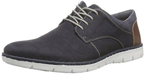 Rieker 17525 Lace Up Mens Derby Shoes - Blue or Grey