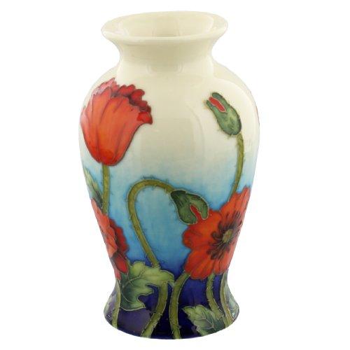 Old Tupton Ware Poppy Design Small Vase Handpainted