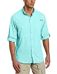 Columbia Men\'s Tamiami II LS Shirt, GULF STREAM, M