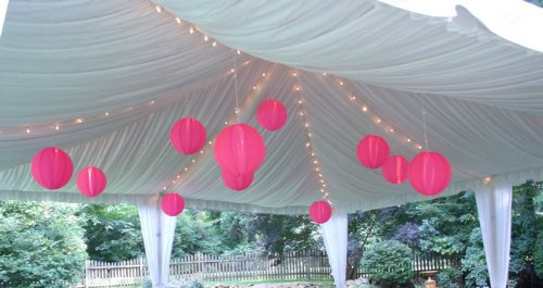 Huge 16 Inch Fuschia-Hot Pink Chinese Paper Lanterns (Set of 10). Make Your Next Reception Something to Remember. These Are Gorgeous Decorations for Any Event, Wedding, or Party.
