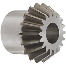 "Boston Gear L158Y-P Bevel Pinion Gear, 2:1 Ratio, 1.125"" Bore, 6 Pitch, 18 Teeth, 20 Degree Pressure Angle, Straight Bevel, Steel"