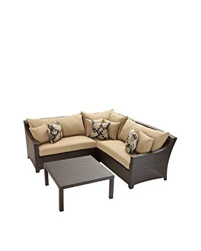 RST Brands Deco 4-Piece Corner Sectional Set, Beige