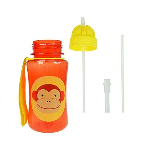 Healthy Baby Kid Child Feeding Bottles Cute Cartoon Animals Straw Cups Monkey front-789971