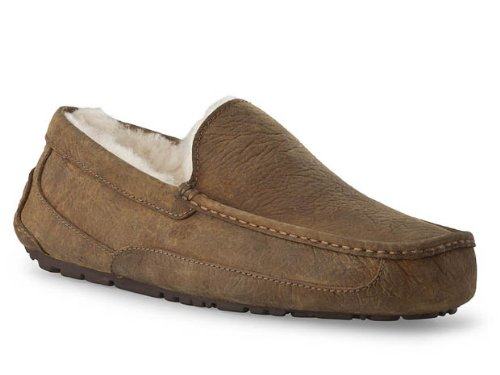 Cheap UGG Ascot Slipper Chestnut Oily Leather Mens (1001543 CHE)