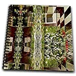 A Checker Board, a Home and Nature all in One Design of Brown and Green - Drawing Book 8 X 8 Inch