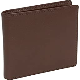 Royce Leather Blocking Men\'s Bi-Fold with Double ID Flap Coco