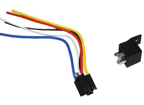 AERZETIX-Relais-12V-5-pin-broches-3040A-avec-faisceau-cable-prise-fiche-cablage