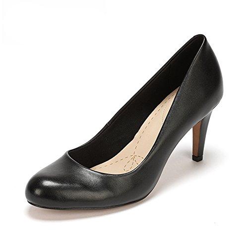 Clarks Carlita Cove - Scarpe con Tacco Donna, colore nero (black leather), taglia 41 EU