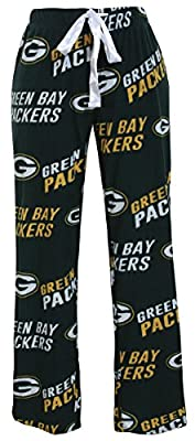 Green Bay Packers NFL Women's Scattern Pattern Microfleece Pajama Pants