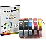 5X 364XL ColourDirect Cartouche D'encres Pour HP Photosmart 5510, 5511, 5512, 5514, 5515, 5520, 5522, 5524, 6510, 6512, 6515, 6520, 7515, B010a, B109a, B109d, B109f, B109n, B110a, B110c, B110e, HP Photosmart Plus B209a, B209c, B210a, B210c, B210d, HP deskjet 3070A, 3520, 3522, 3524, officejet 4610, 4620 Haute Capacité