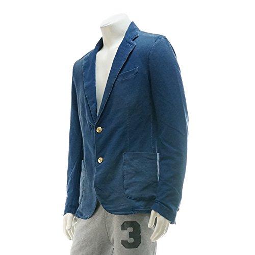 (ハイドロゲン) HYDROGEN スウェット素材 2B ジャケット ノッチドラペル 160501-459 インディゴブルー M 【並行輸入品】