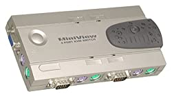 IOGEAR GCS14 4-Port MiniView PC PS/2 KVM Switch Kit with Cables (PS/2)