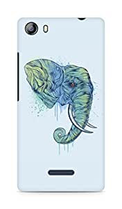 Amez designer printed 3d premium high quality back case cover for Micromax Canvas 5 (E481) (Elephant art illust drawing animal)