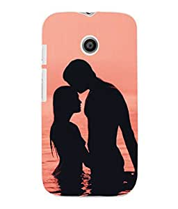 Fuson 3D Printed Valentine Designer Back Case Cover for Motorola Moto E - D641