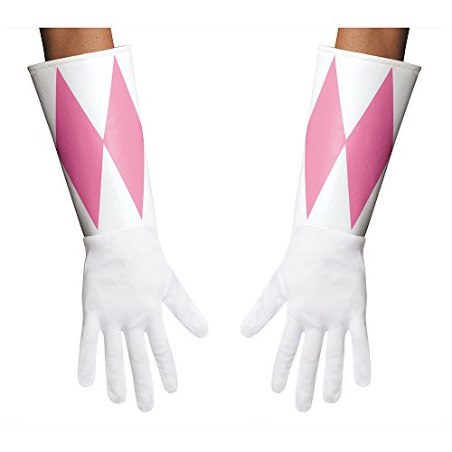 Disguise Women's Pink Ranger Adult Gloves Costume Accessory