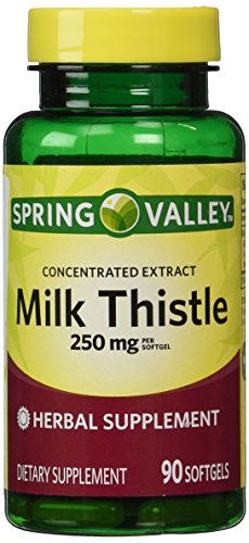 Spring Valley Milk Thistle 4:1 Concentrated Extract 250 mg - 90 Softgels