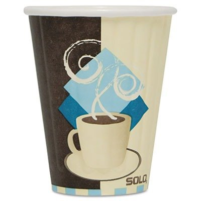 Solo Foodservice IC8-J7534 Hot Cup, 8 oz, Tuscan Cafee (Pack of 1000)