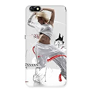 Cute White Dance Red Ribbon Back Case Cover for Honor 4X