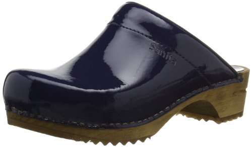 Sanita Womens Classic Patent open Clogs And Mules Black Schwarz (black 2) Size: 5,5-6 (39 EU)