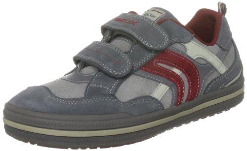 Geox - Sneaker uomo , multicolore (Grey/Dark Red), 27 EU Bambino piccolo