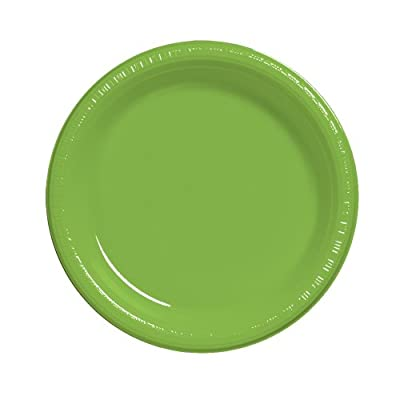 Creative Converting Touch of Color 20 Count Plastic Lunch Plates, Fresh Lime from Creative Converting
