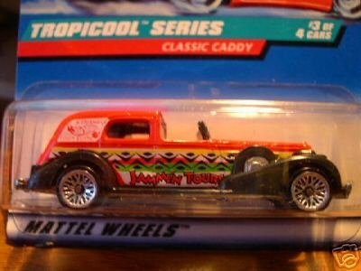 Mattel Hot Wheels 1998 1:64 Scale Tropicool Series Red Classic Caddy Die Cast Car 3/4 - 1