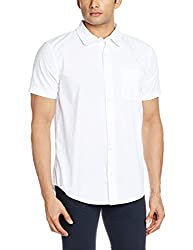 Fox Men's Casual Shirt (135434010040_135434_Medium_White)