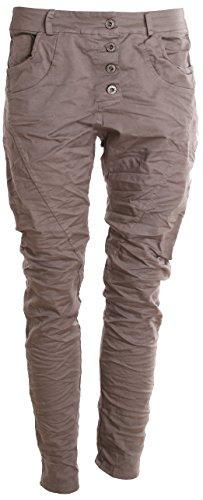 Basic. de Boyfriend Jeans da donna pantaloni Taupe Uni L