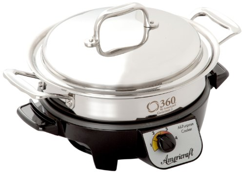 360 Cookware ID023-GC Gourmet Slow Cooker, 2.3-Quart