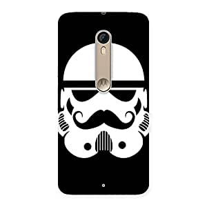 Delighted Mustach Black Back Case Cover for Motorola Moto X Style