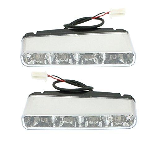 Car 0.5W 4 LED DRL conduite Daytime Running Light lampe blanche 2 Pcs