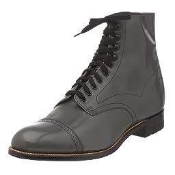Stacy Adams Men\'s Madison Cap Toe Boot,Steel Gray,12 D