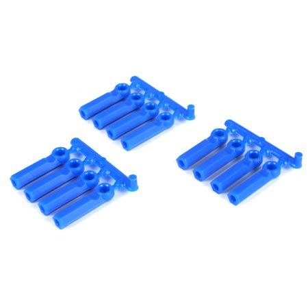 RPM Long Shank 4-40 Rod Ends (12), Blue