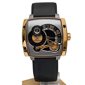 Hautlence HLS HLS06 45mm Automatic 18K Gold Case Black Rubber Anti-Reflective Sapphire Men's Watch