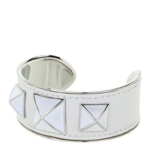 Rebecca Minkoff Small Enamel Stud Leather Cuff – jewelry