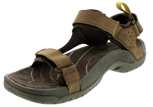 Teva - Sandali sportivi Tanza Leather M's, Uomo, marrone scuro (Braun (brown 556)), 43