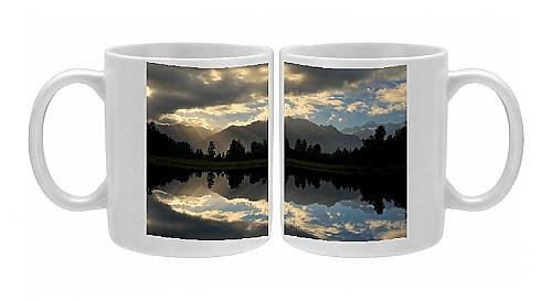 Photo Mug Of Lake Matheson - Perfect Reflection Of The Southern Alps In Lake Matheson From Ardea Wildlife Pets front-574943