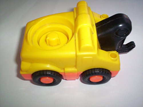 Fisher Price Little People Yellow Tow Truck Orange Bottom, Black Hook Racing Ramps Garage Sounds 2006 - 1