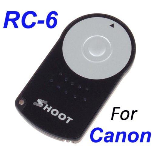Neewer IR Wireless Remote Control RC-6 shutter release for Canon EOS T1i/500D / T2i/550D / 5D Mark II / 7D / 60D / T3i / 600D / XSi / 450D/ XSi / 450D / XT / 350D / 300D ...